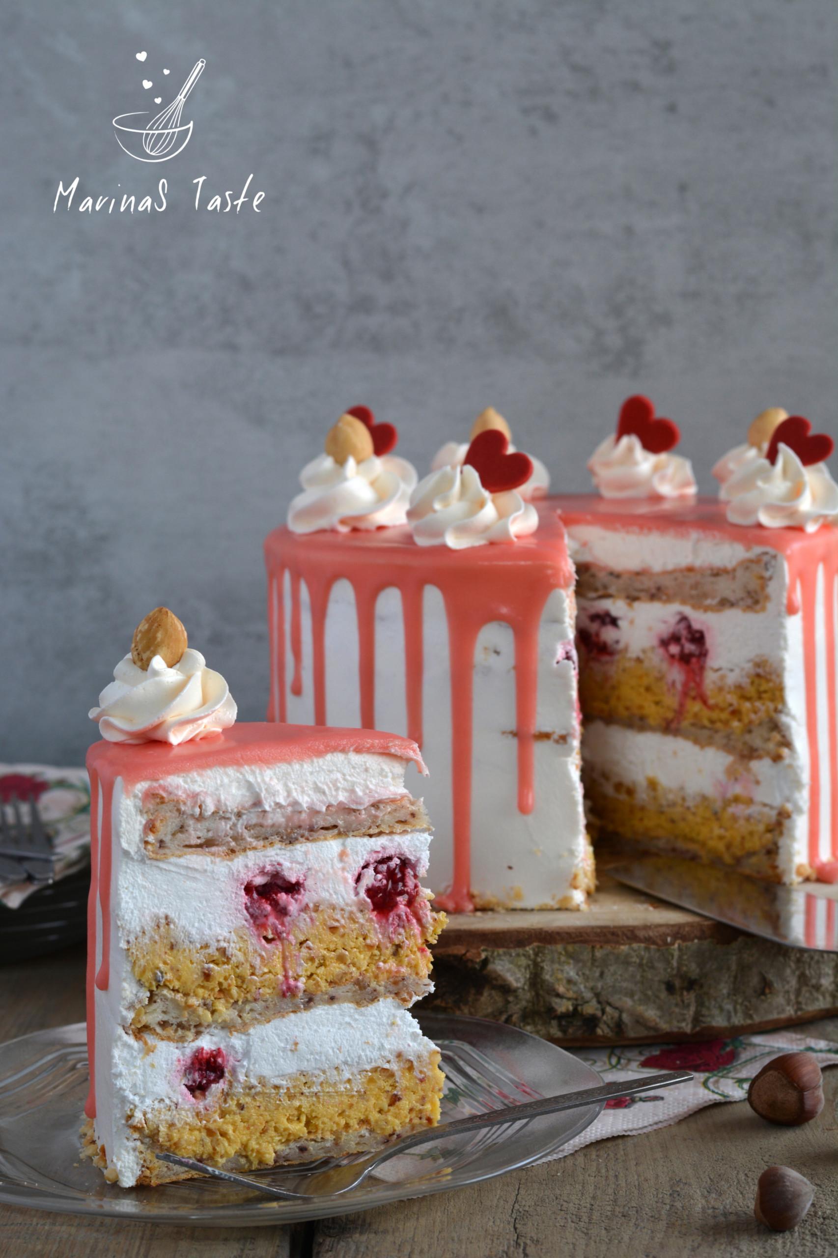 Bela-nugat-torta-sa-malinama-4