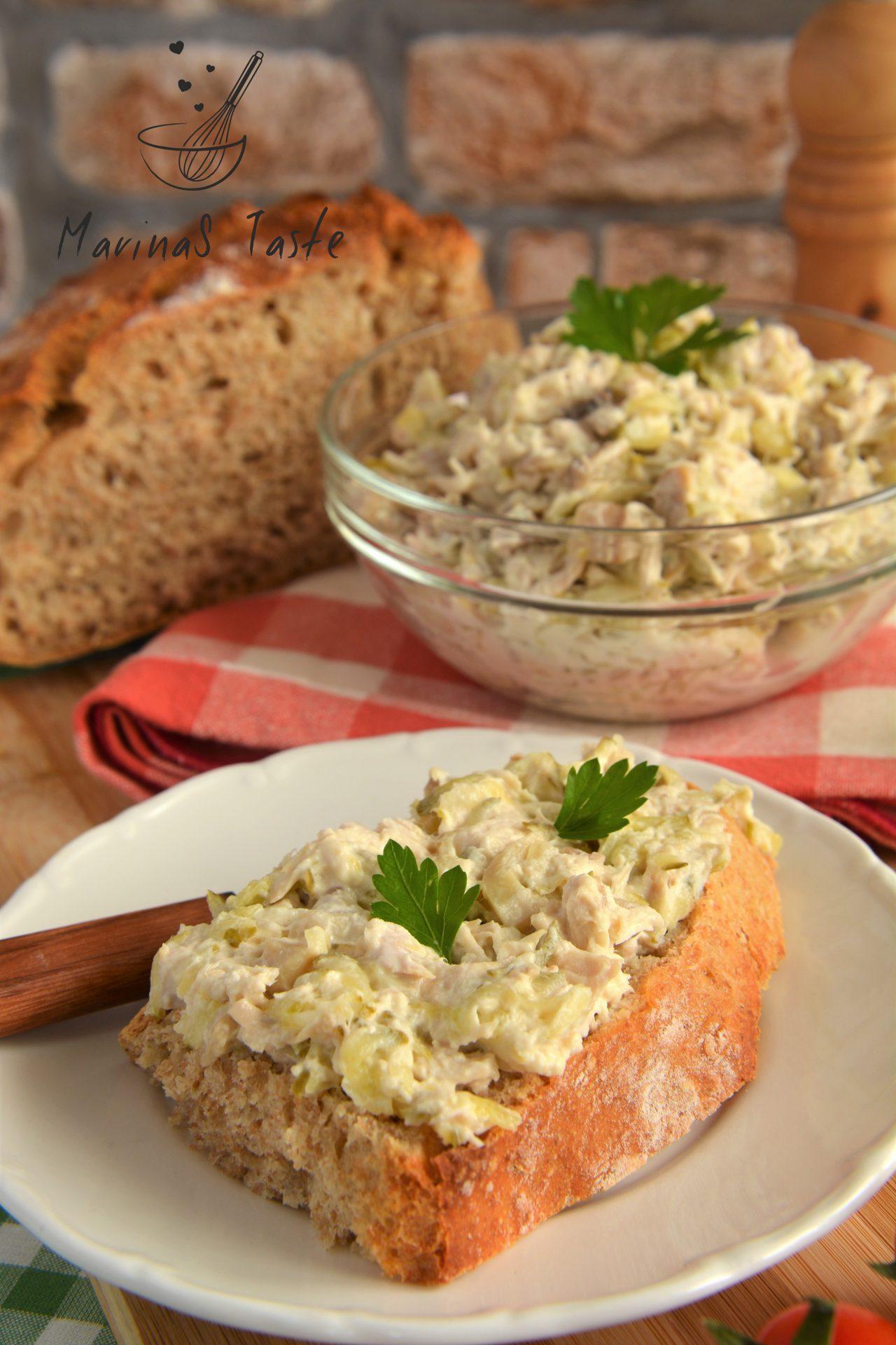 Salata-sa-piletinom-i-sampinjonima-1